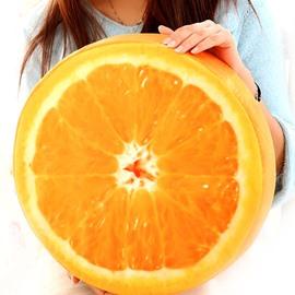 Creative Glistening Yellow Crystal Orange Shape Pattern Throw Pillow