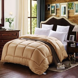 High Quality Gorgeous Warm and Comfortable Solid Color Thicken Quilt