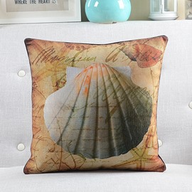 New Arrival English Lettes and Shell Printed Throw Pillow