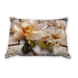 Bright Magnolia with Paisley Flowers One Pair Pillowcases