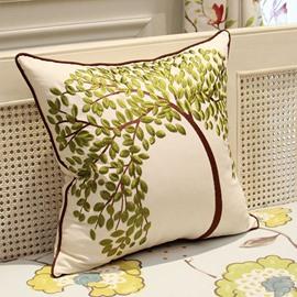 The Life Tree Printing Linen Throw Pillow