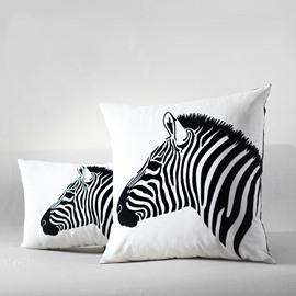 Zebra Head Printing Easy Style Throw Pillow