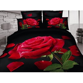 Gorgeous 3D Rose Romantic Style One Pair Pillow Cases