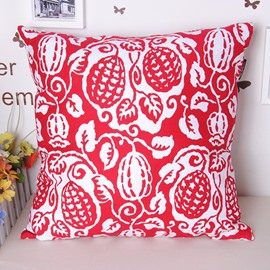 Artistic Creative Fruit Ripe Printing Cotton Throw Pillowcase