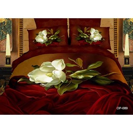 Vintage Romantic White Flower 2-Piece Pillow Cases