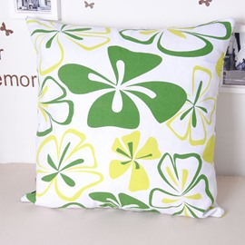 Elegant Green Grass Comfortable Cotton Throw Pillowcase