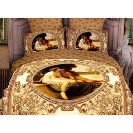 Luxury Yellow Famous Painting Print 2-Piece Pillowcases