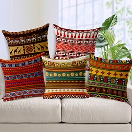 Exotic Bohemian Style Geometric Figure Throw Pillow Case