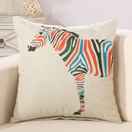 Fashion Colorful Zebra Print Decorative Throw Pillow