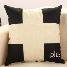 Faddish Plus Sign Print Comfy Decorative Throw Pillow