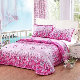 Romantic Rosy Flowers Design European Style Cotton 3-Piece Bed in a Bag