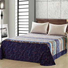 European Style 100% Cotton Blue Printed Sheet