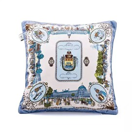 Elegant British Style Throw Pillow