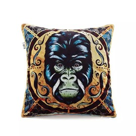 Gorilla Totem Paint Throw Pillow