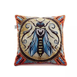 Fly Totem Paint Throw Pillow