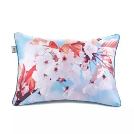Delicate White Peach Blossoms Paint Throw Pillow