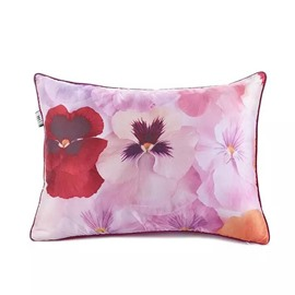 Colorful Catharanthus RoseusPaint Throw Pillow