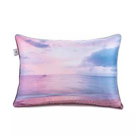 Glittering Sea Paint Throw Pillow