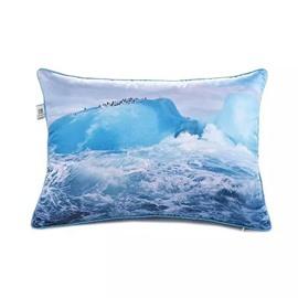 Turbulent Ocean Wave Paint Throw Pillow