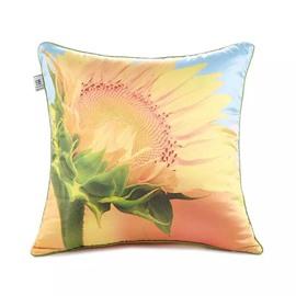 Yellow Sunflower Paint Throw Pillow