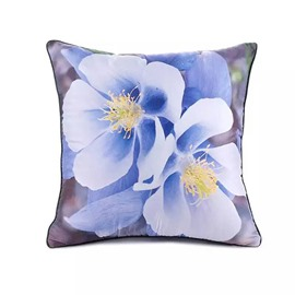 Blooming Irises Paint Throw Pillow