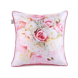 Various Glorious Roses Paint Throw Pillow