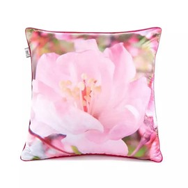 Lovely Pale Pink Flower Paint Throw Pillow