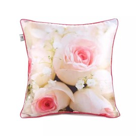 Pale Pink Rose Bud Paint Throw Pillow