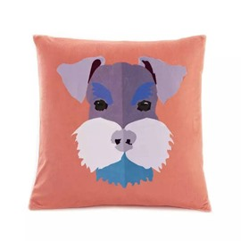 Cartoon Dog with Serious Look Paint Throw Pillow Case