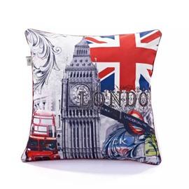 Classical Britain Scene Paint Throw Pillow Case