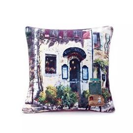 European Style Restaurant Paint Throw Pillow Case