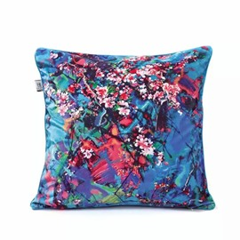 Oil Painting Peach Blossom Throw Pillow Case