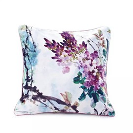 Simple and Elegant Flowers Paint Throw Pillow Case