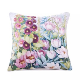 Charming Tulips and Morning-Glory Paint Throw Pillow Case