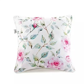 Concise Pink Peony Paint Throw Pillow Case