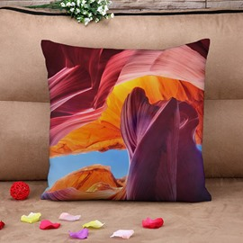 Abstract Colorful Natural Scenery Cotton Throw Pillow Case