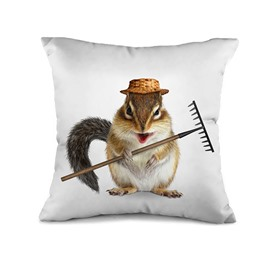 Likeable Mouse Farmer 3D Print Throw Pillow Case