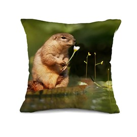 Super Cute Marmot Design 3D Throw Pillow Case