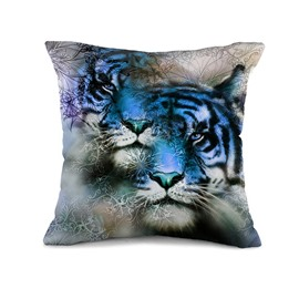 Individualized Creative Tiger Pattern Throw Pillow Case