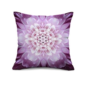 Excellent Purple Flower 3D Print Throw Pillow Case