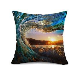 Marvelous Blue Spindrift Design Throw Pillow Case