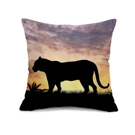 Strong and Vigorous Tiger Print Throw Pillow Case