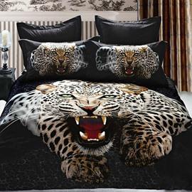 Top Class Luxury Leopard/Jaguar Print 3D Fitted Sheet