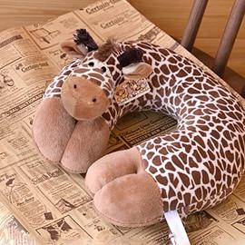 Creative Vivid Giraffe Design U-shape Plush Throw Pillow