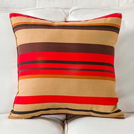 Concise Stripes Reactive Printing Throw Pillow Case
