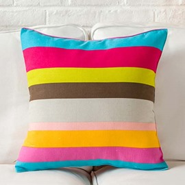 Wonderful Iridescent Stripe Print Throw Pillow Case