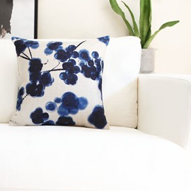 Lovely Tie-dyed Indigo Grape Throw Pillow
