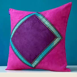 Exotic Style Diamond Pattern Throw Pillow Case