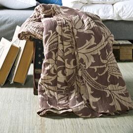 Vintage Toile Pattern Brown 100% Cotton Quilt