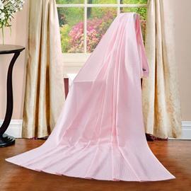 Exquisite Dreamy Pink Jacquard Cotton Towel Quilt